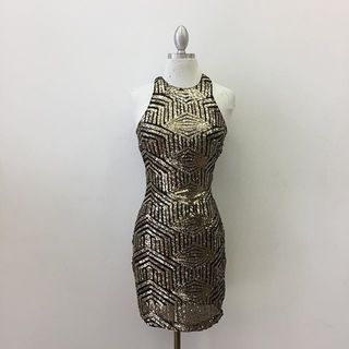 Shoptiques Metallic Dress