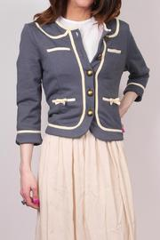 Knitted Dove Bow Pocket Jacket - Front cropped