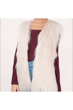 Shoptiques Product: 2CHIC WHITE FAUX FUR VEST