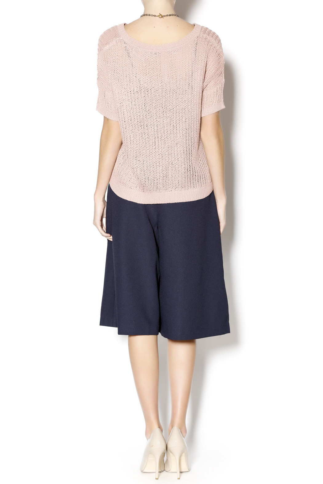 Kensie Blush Knit Sweater - Side Cropped Image