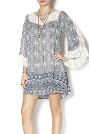Umgee USA Blue Boho Dress - Front cropped