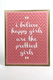 DEMDACO Prettiest-Girl Wall Plaque - Product Mini Image