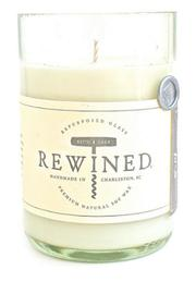 Rewined Rosé Wine Candle - Front cropped
