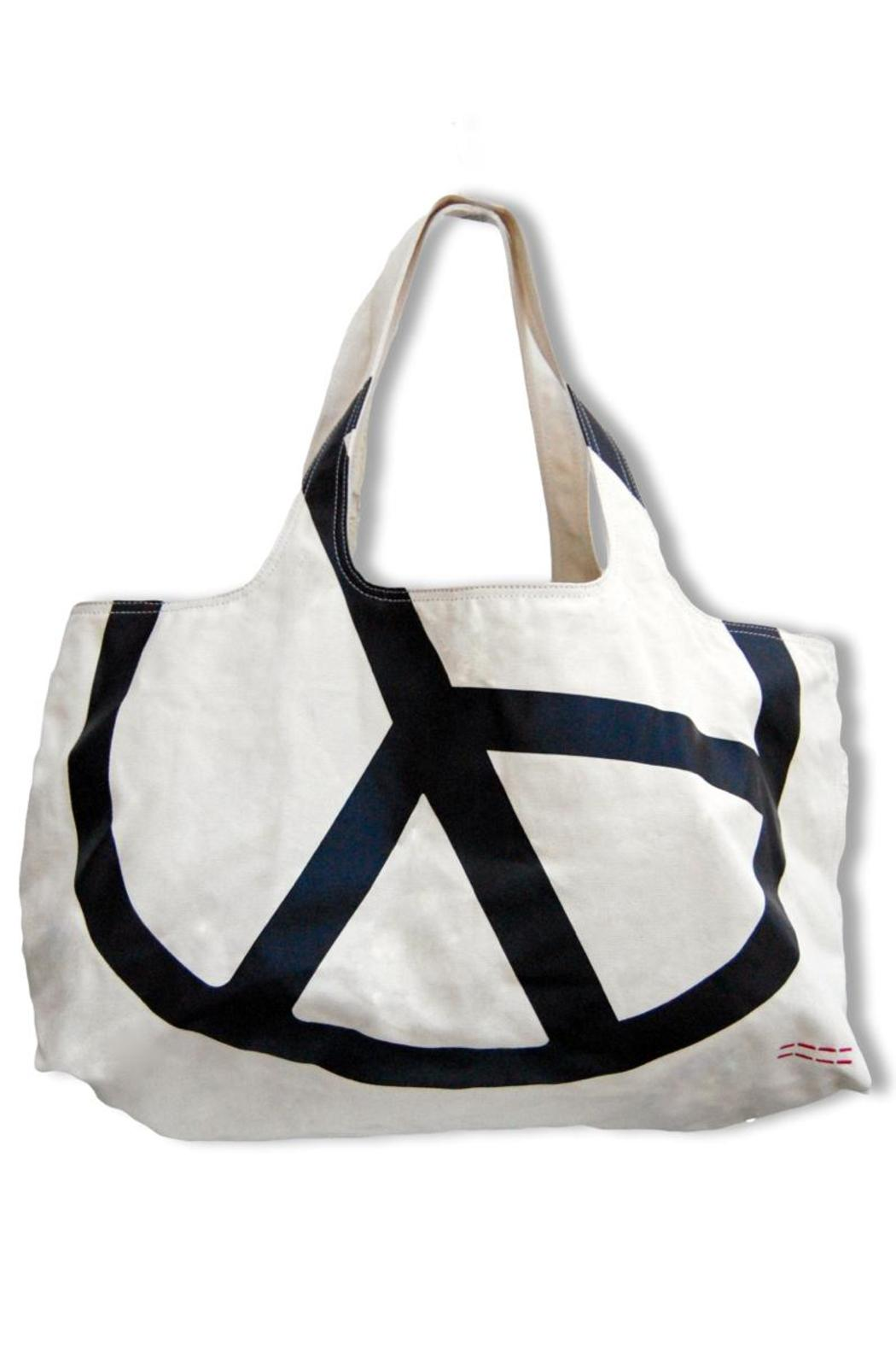 Peace Love World Peace Canvas Tote Front Cropped Image