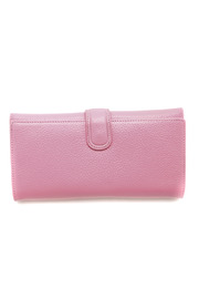 Passports Pink Pebble-leather Wallet - Front cropped