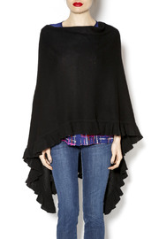 Minnie Rose Ruana Ruffle Poncho - Product Mini Image