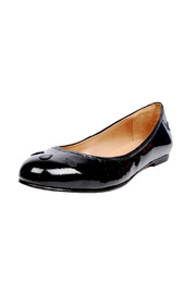 Ellips Teardrop Patent-Leather Flats - Front cropped