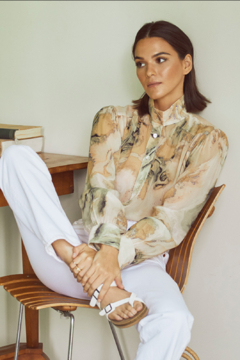 Fifteen Twenty 2F19538 - Shirred Button Up Blouse - Product List Image