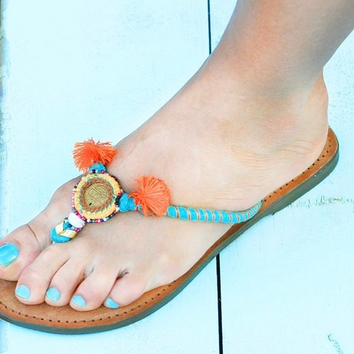 Touch Of Jade Sandals - Main Image