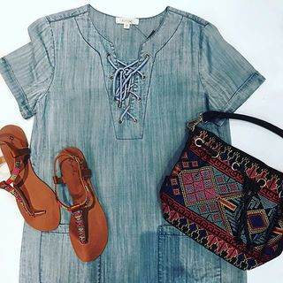 Shoptiques Chambray Dress