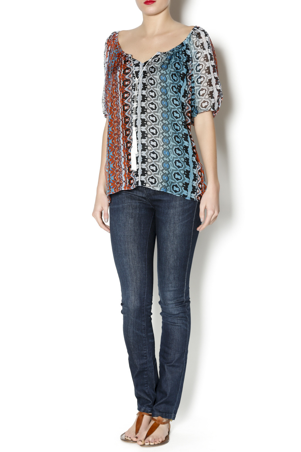 Single Blum Peasant Blouse - Front Full Image