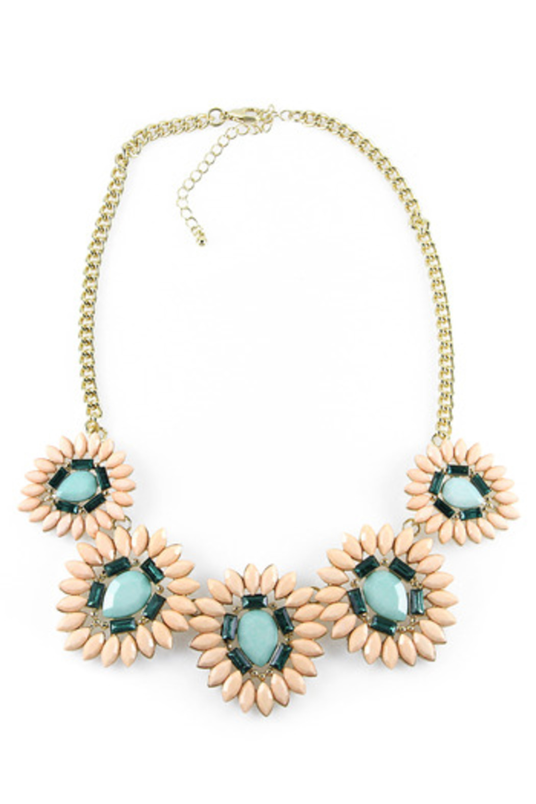 Fanaberie Pastel Floral Necklace - Front Cropped Image