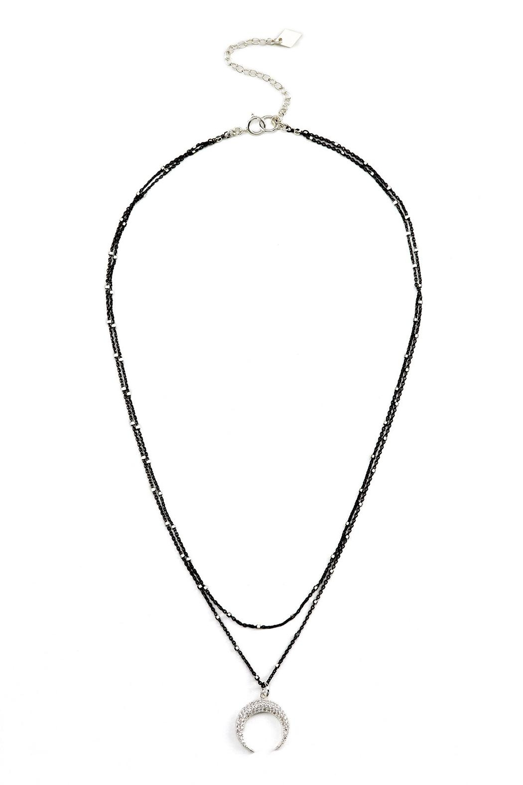 Joy Dravecky 2in1 Crescent Necklace - Front Cropped Image