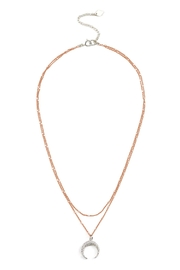 Joy Dravecky 2in1 Crescent Necklace - Front cropped