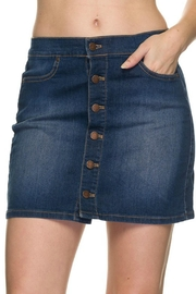 2NE1 Apparel Buttondown Denim Skirt - Product Mini Image