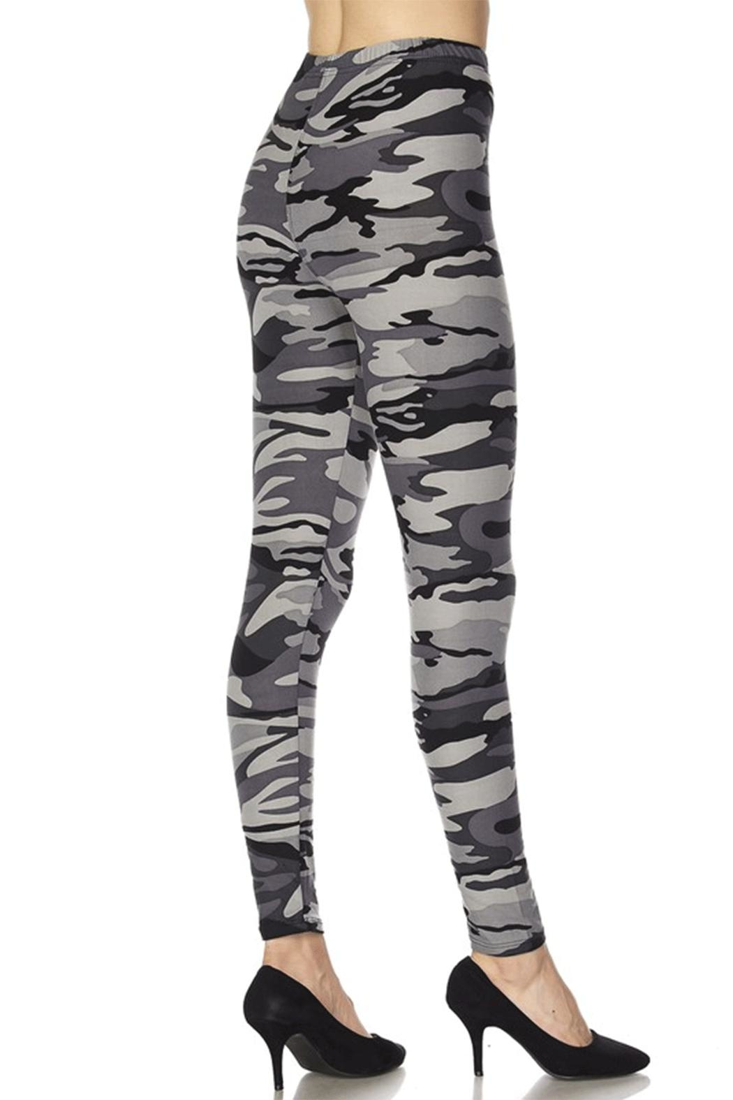 2NE1 Apparel Camo Leggings - Front Full Image