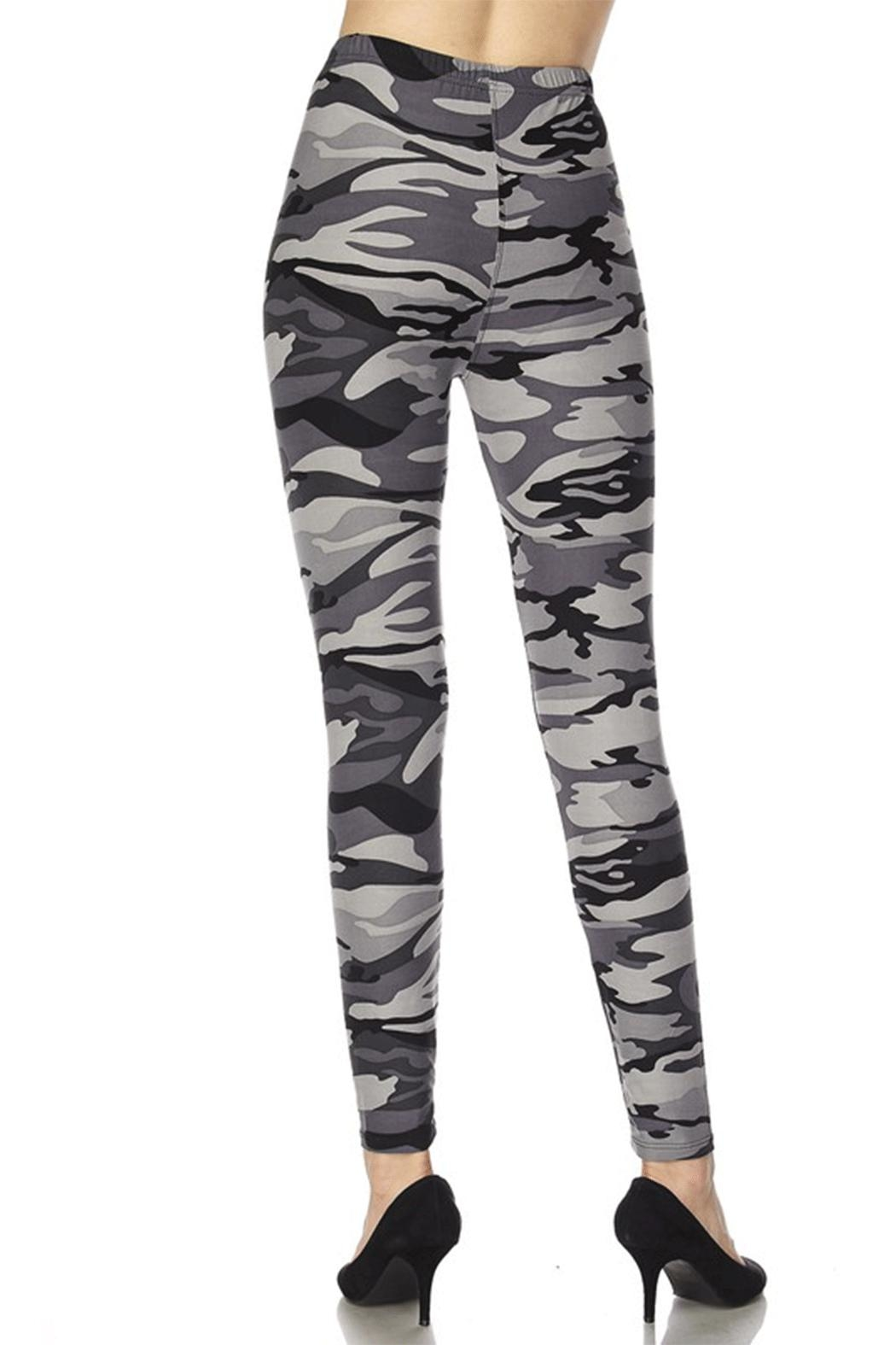 2NE1 Apparel Camo Leggings - Side Cropped Image