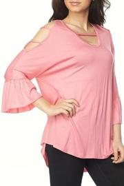 2NE1 Apparel Cutout Cold Shoulder Tunic - Front cropped