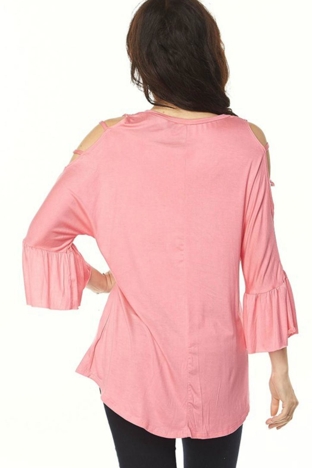 2NE1 Apparel Cutout Cold Shoulder Tunic - Front Full Image
