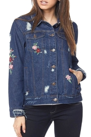 2NE1 Apparel Embroidered Denim Jacket - Product Mini Image
