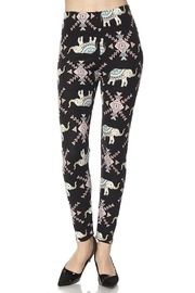 2NE1 Apparel Geo-Print Elephant Leggings - Product Mini Image