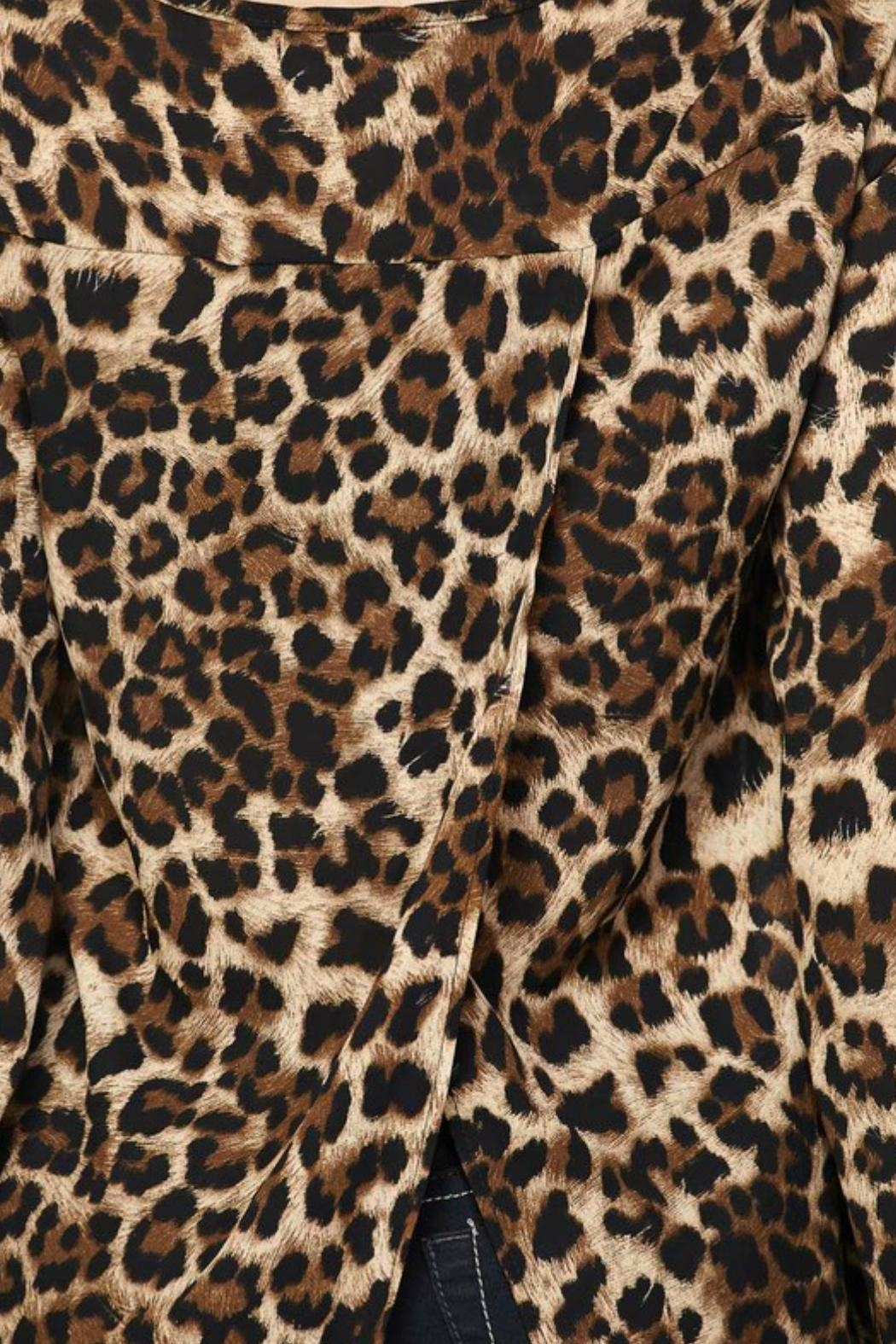 2NE1 Apparel Leopard Print Top - Front Full Image