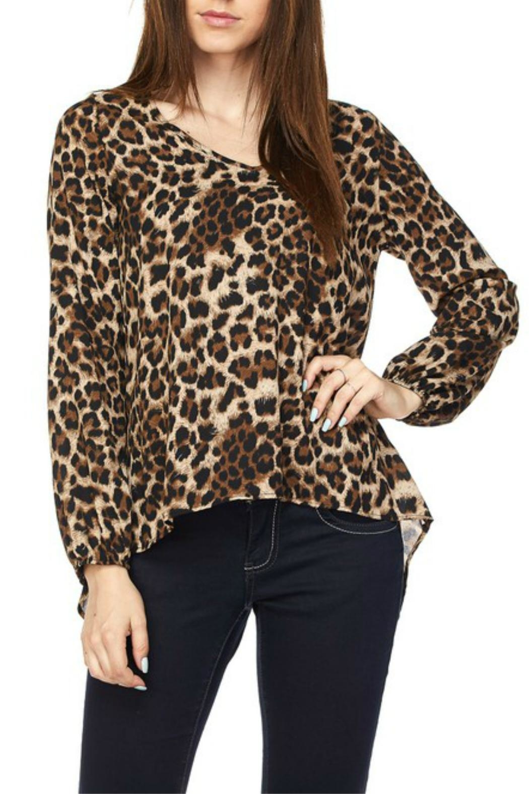 2NE1 Apparel Leopard Print Top - Front Cropped Image
