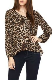 2NE1 Apparel Leopard Print Top - Front cropped