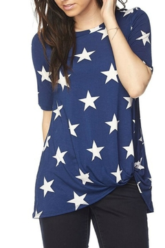 2NE1 Apparel Navy Star Print Top - Product List Image