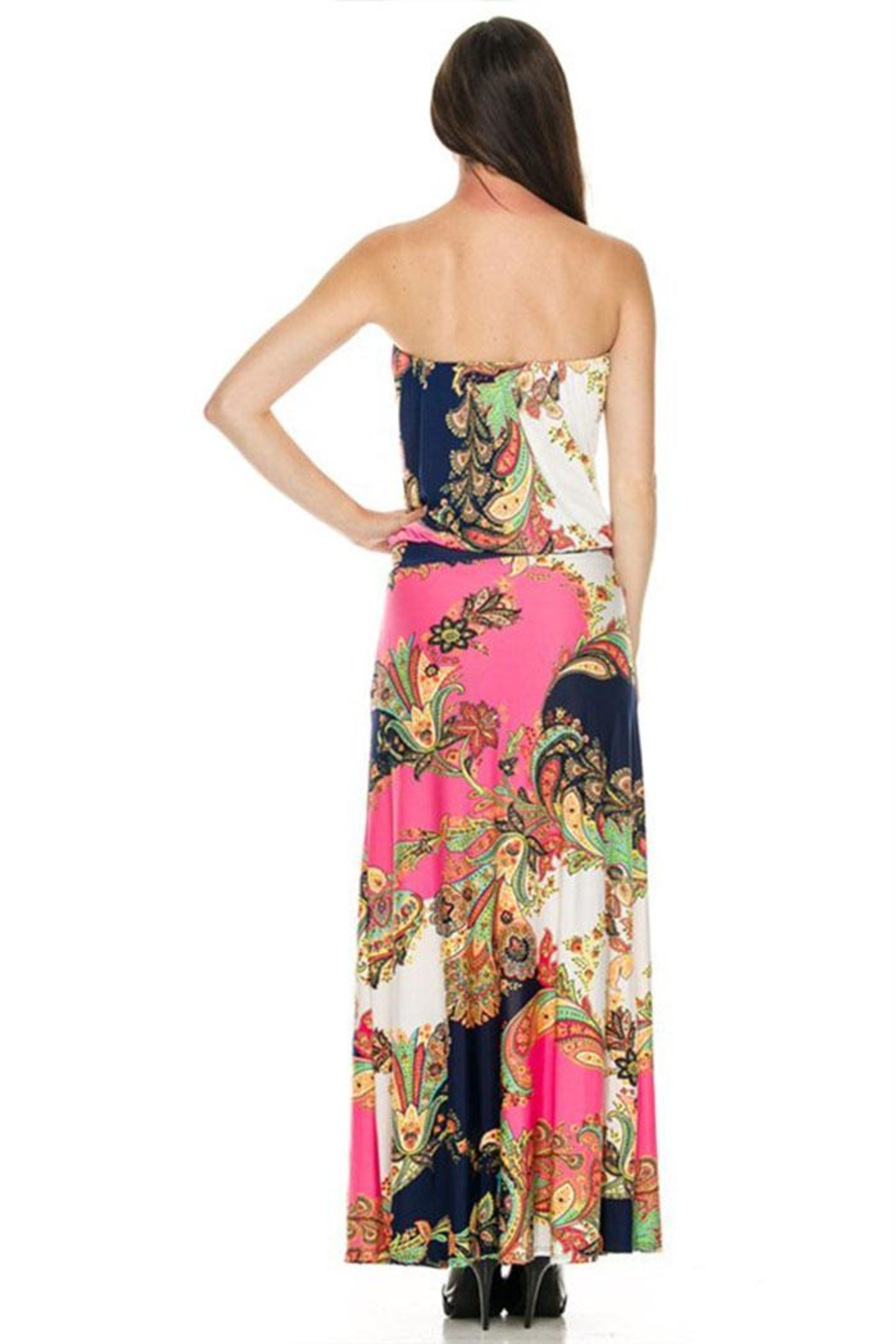 2NE1 Apparel Pink Maxi Dress - Front Full Image