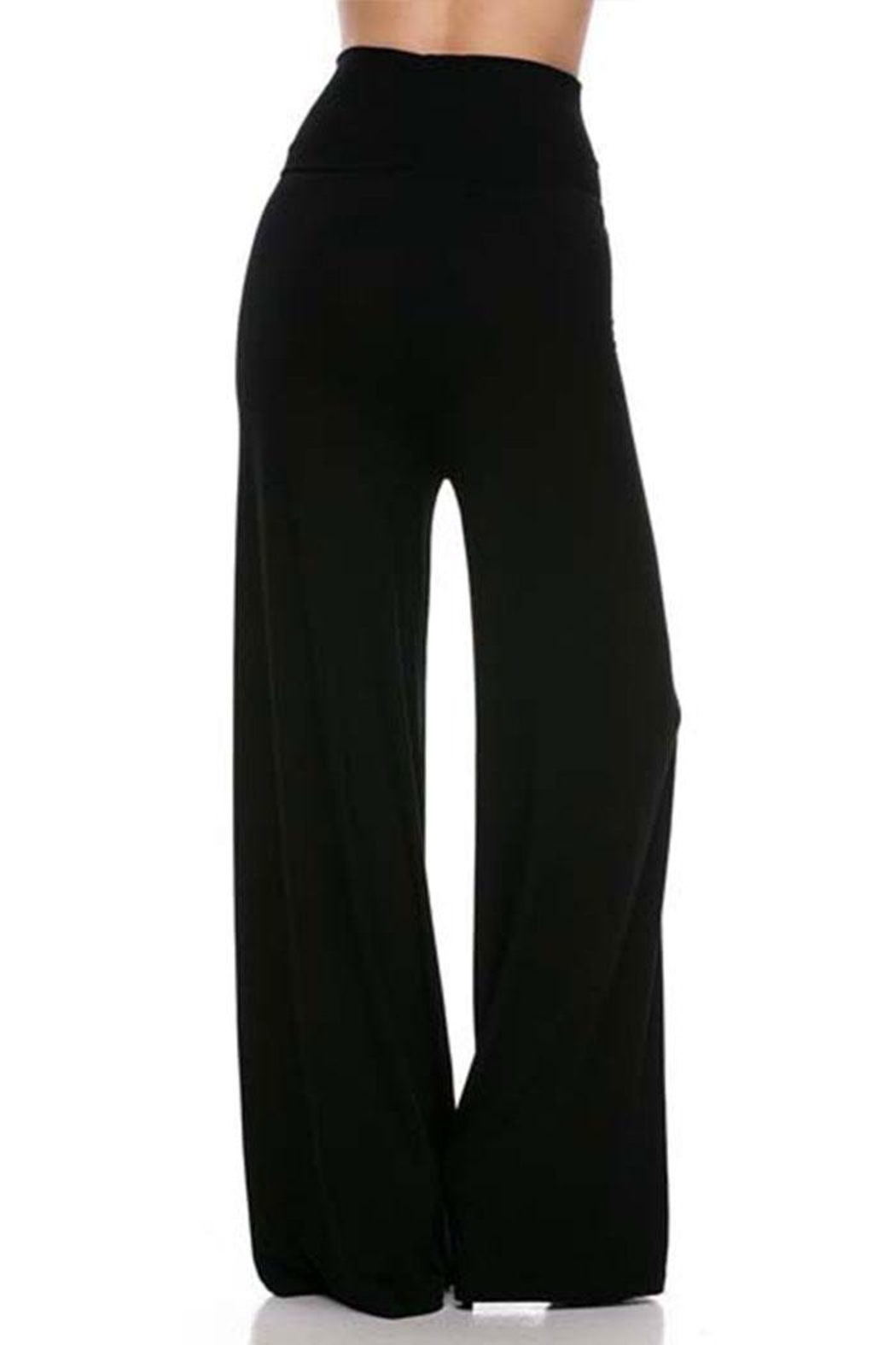 2NE1 Apparel Solid Modal Palazzo - Side Cropped Image