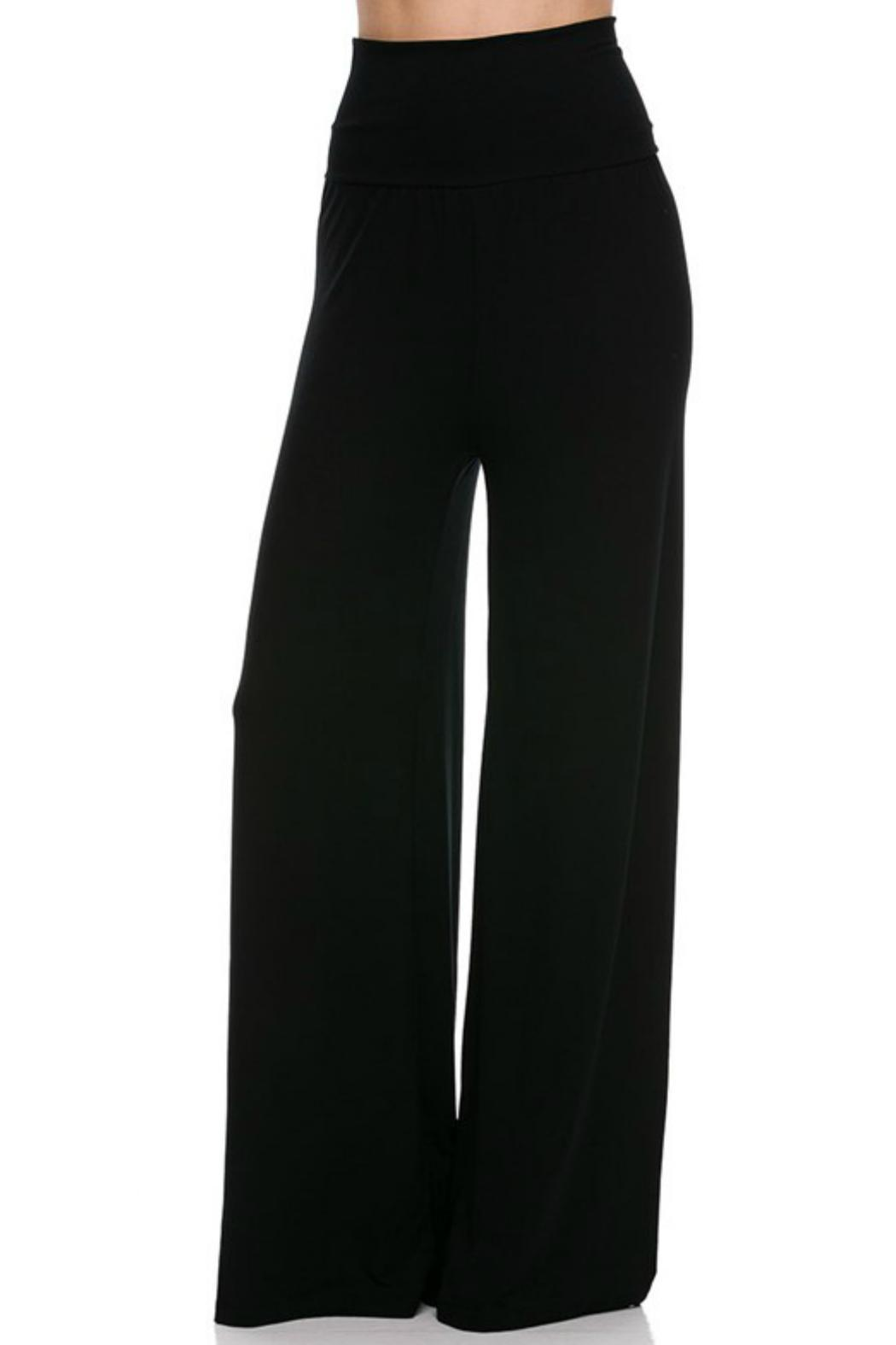 2NE1 Apparel Solid Palazzo Pants - Front Cropped Image