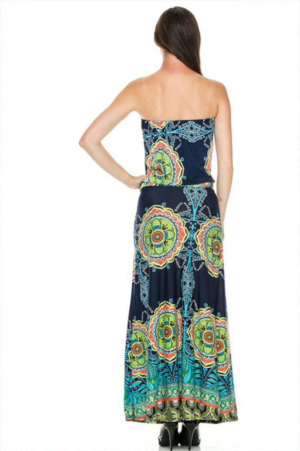 2NE1 Apparel Strapless Maxi Dress - Back Cropped Image