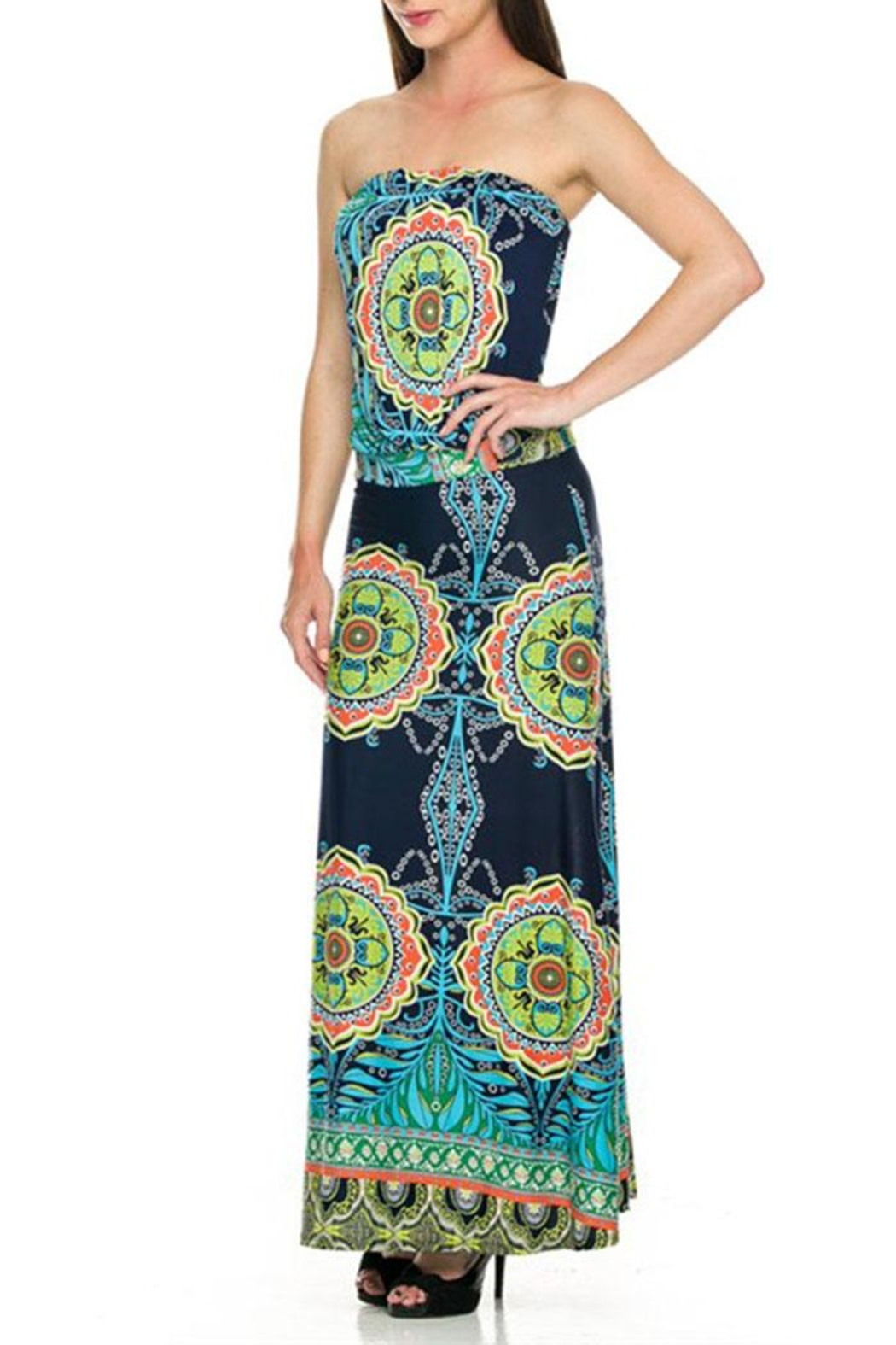 2NE1 Apparel Strapless Maxi Dress - Front Cropped Image