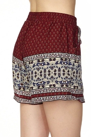 2NE1 Apparel Two-Tone Printed Shorts - Front full body