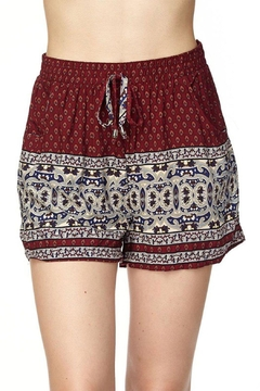 Shoptiques Product: Two-Tone Printed Shorts