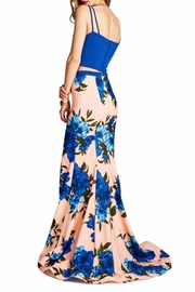 Goldspark 2pc Floral Gown - Front full body