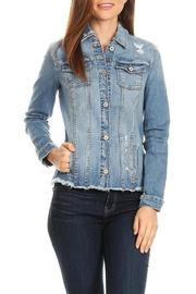 2Sable Frayed Denim Jkt - Front cropped