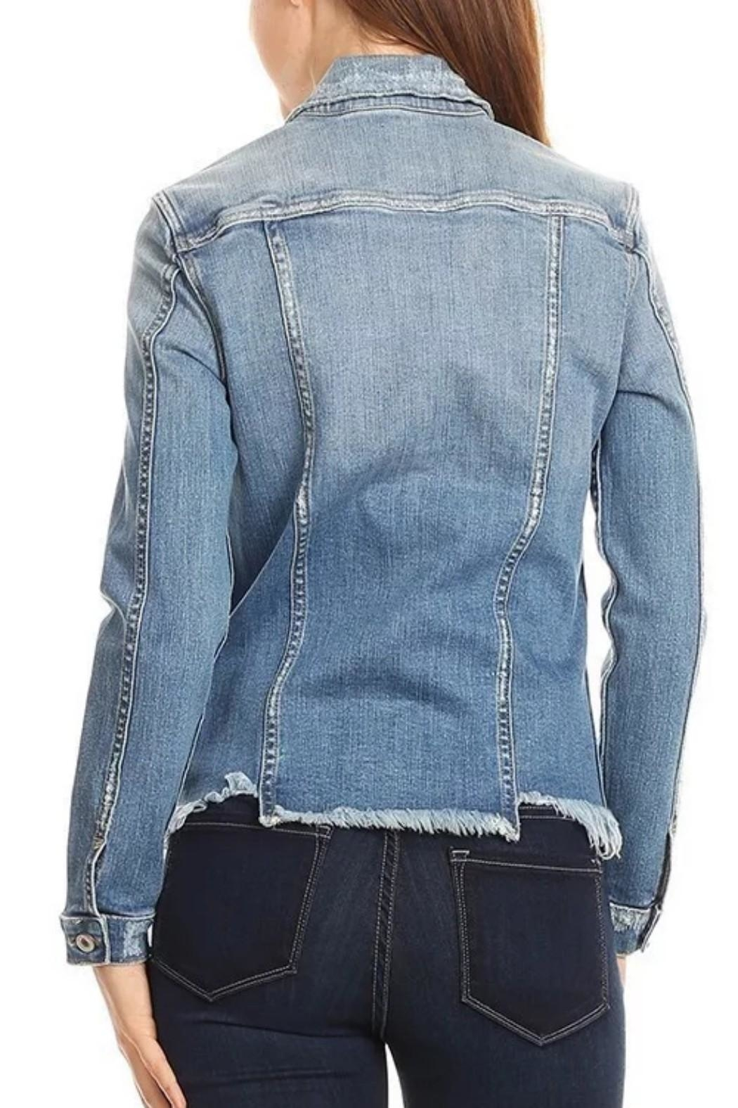 2Sable Frayed Denim Jkt - Front Full Image