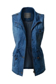 2Sable Sleeveless Denim Vest - Product Mini Image