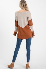 Cezanne 2TONE COLOR BLOCK SWEATER - Side cropped