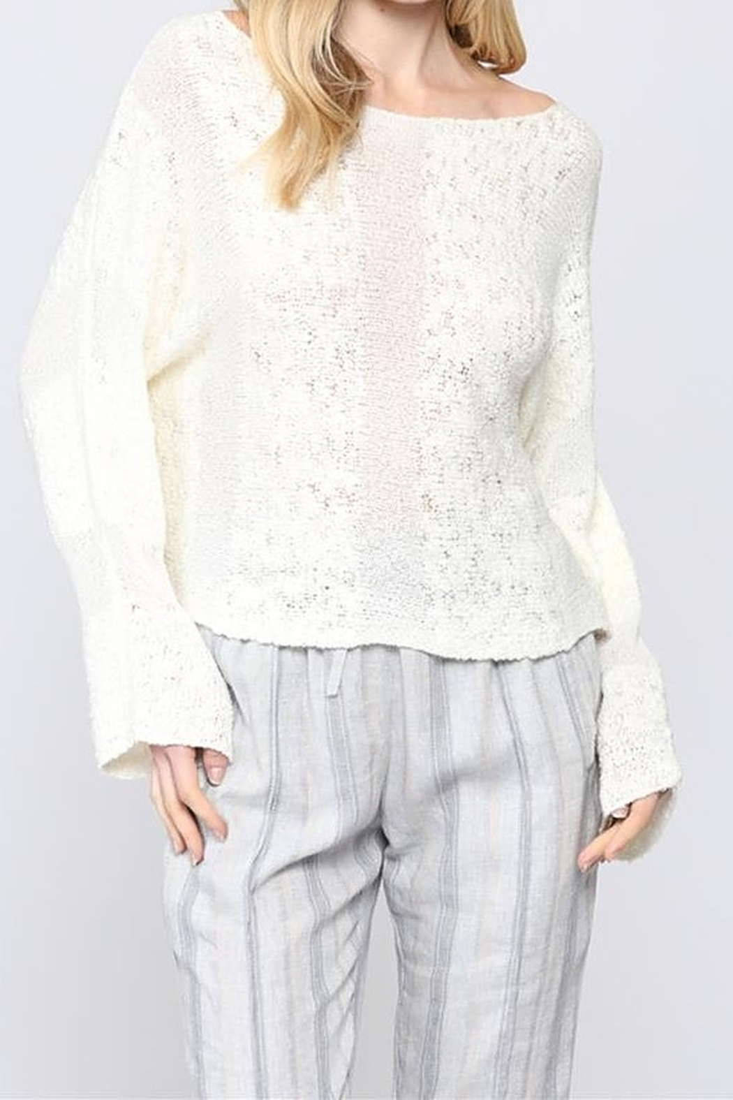 FATE by LFD 2way knitted crop sweater - Main Image