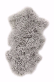 The Birds Nest 2X3 MONGOLIAN LAMB FUR RUG - Front cropped