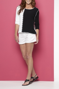 Shoptiques Product: 3/4 Black/white Sweater
