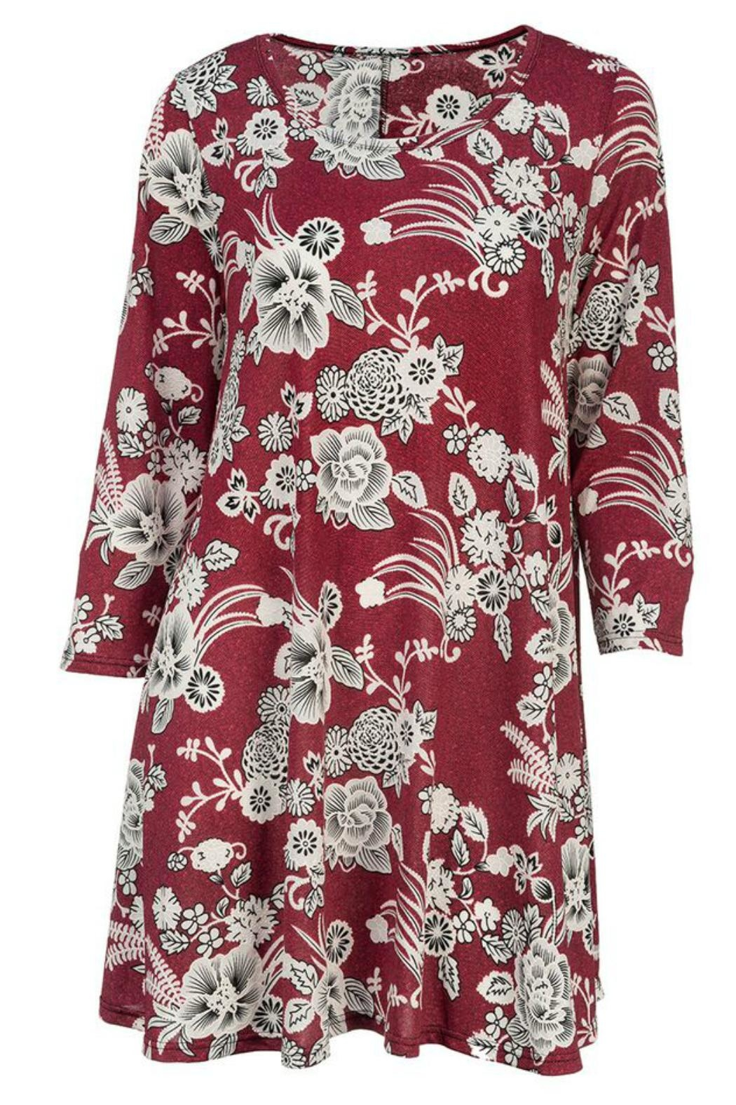 Howard's 3/4-Length Sleeve Tunic/dress - Front Cropped Image