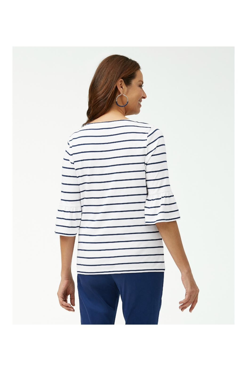 Tommy Bahama 3/4-Ruffle-Sleeve Top - Front Full Image
