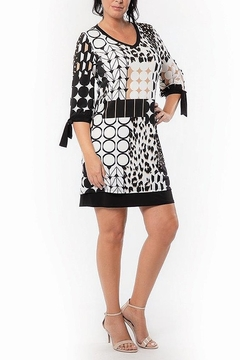 Bali Corp. 3/4 Sleeve Bali Overlay Dress - Product List Image