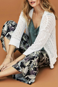 Tribal 3/4 sleeve button front cardigan - Product List Image