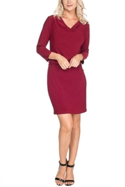 Last Tango 3/4 Sleeve Dress With Drape Waist - Product Mini Image