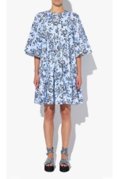 ERDEM 3/4 SLEEVE FLORAL POPLIN MINI DRESS - Product List Image